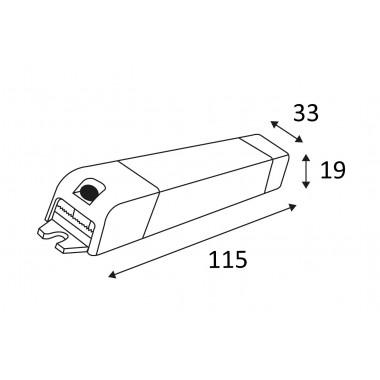 Indigo convertisseur dimmable 350mA 1-15W