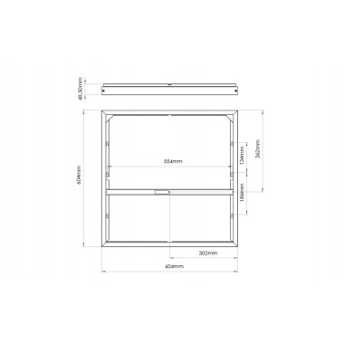 Sense unité de surface Kit 600x600mm