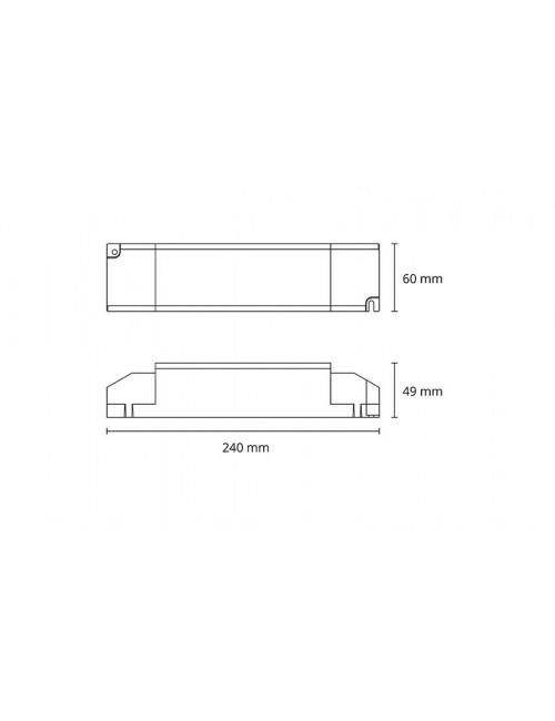 Alimentation 2x55W (1-10V/Push DIM)